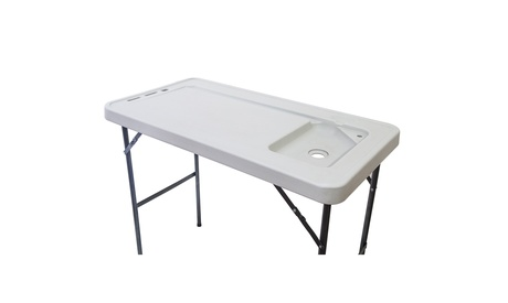 Folding Fish Table Portable Cleaning Cutting Fillet Table with Sink Faucet