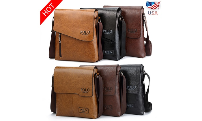 Up To 57% Off on POLO Men Women Leather Messen...  33041105092e7