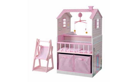Teamson Kids - All in One Baby Doll Nursery Station for 18 Inch Dolls 822e839f-6ec0-4ba9-a893-c44df7a801db