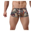 2pcs/Set Floral Print Low Waist Boxer Underpants