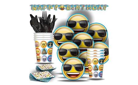 Emoji Birthday Party Supplies BASIC for 8 NEW 35379b0e-3417-4bff-84f4-fa10cf217eaf