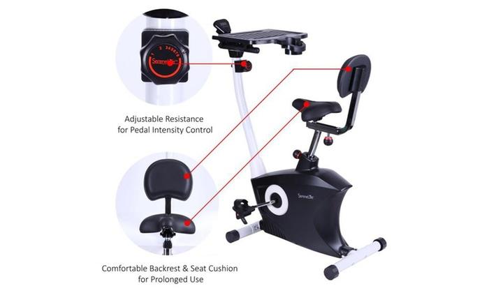 7e7f7c104c1 SereneLife Exercise Bike Fitness Machine with Laptop Tray SLXB9 ...