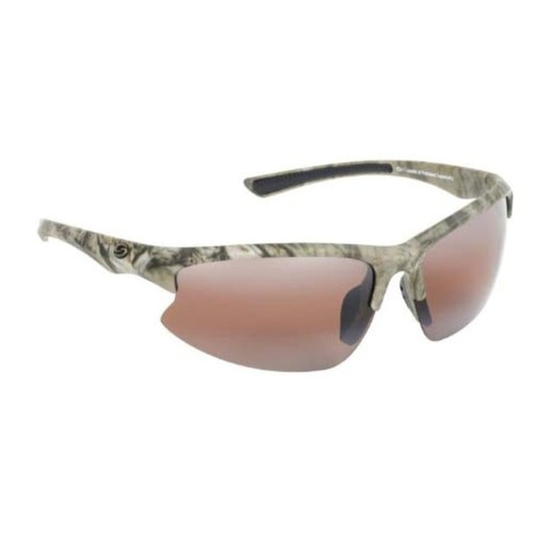 Strike King SG-S1154 S11 Optics White Frame Amber Lens Polarized Sunglasses