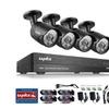 SANNCE 8CH AHD 1080P Security DVR System 4Pcs 2MP CCTV IP66 Cameras
