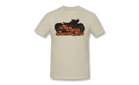 Aich Men's The Flying Burrito Brothers Band Motorcycle T Shirt Natural 84b6dae4-db1a-4f86-bb29-db8900be774e