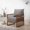 Vola Mid-century Modern Walnut Wood Lounge Chair