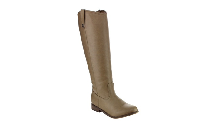 Beston ED36 Women's Knee High Pull On Chunky Heel Riding Costume Boots