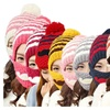 Fashion Women's Cute Winter Knitted Warm Cap with Beard Mask