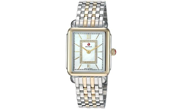 fd1385dcd1d Michele Deco II Diamond Two-Tone Ladies Watch MWW06I000024 | Groupon