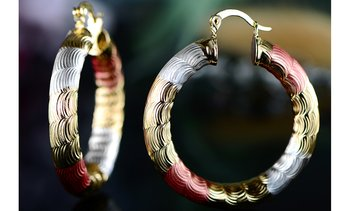 18k Gold Plated Lite-weight Hoop Earrings