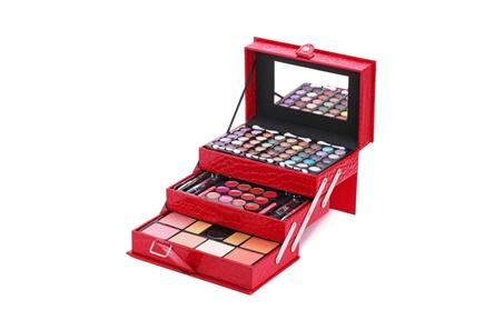 Makeup Kit Leather Train Case with Mirror 84 pcs set f07c668f-7a16-4b8f-b572-f3a4ba088980