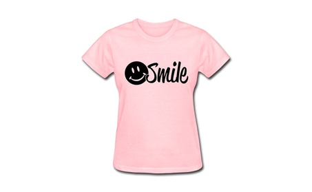 HM Women's T-shirts Smile Pink T-Shirt f0ef957f-6a08-431d-b653-2da3eadd4063