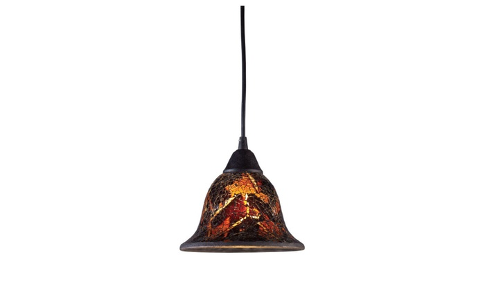 ELK Lighting Firestorm 1 Light Pendant In Dark Rust