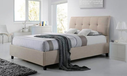Lea Modern and Contemporary Queen Size Fabric Ottoman Storage Platform Bed