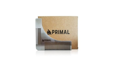 New Beard Template Comb for Shaping Styling by Primal Stainless Steel 4cfb7546-b687-4c34-9764-6eebe0e54e95