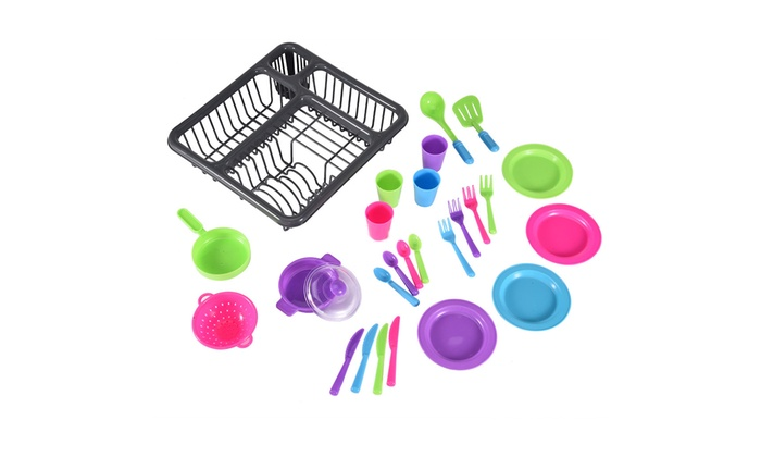 Iuhan Kids Pretend Play Dishes Kitchen