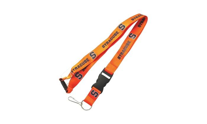 Syracuse Orangemen Clip Lanyard Keychain Id Ticket Holder NCAA