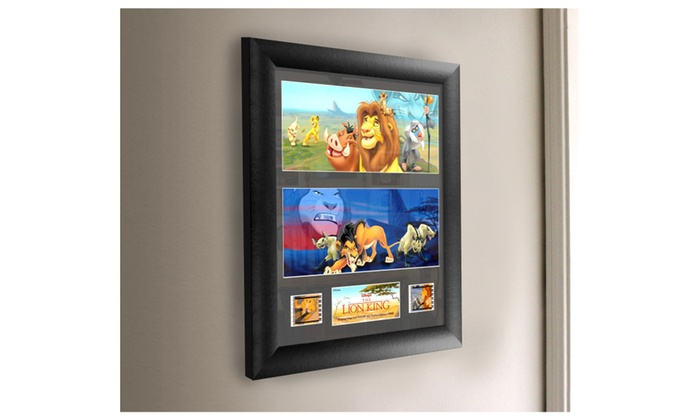 Disney The Lion King Framed Filmcells Wall Art With Real Movie Film