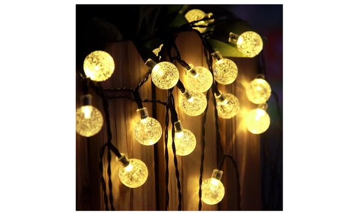 Innoo tech solar globe string lights outdoor 197 ft 30 led warm innoo tech solar globe string lights outdoor 197 ft 30 led warm white aloadofball Gallery