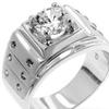 J Goodin Iron Man Cubic Zirconia Ring Size 14