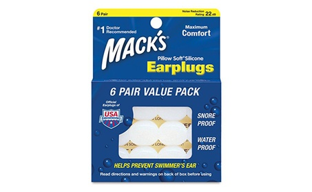 Mack's Pillow Soft Silicone Earplugs Value Pack, 6 Pairs b69cd5f8-285b-43f0-987e-47be5002a726
