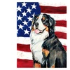 Carolines Treasures 28 x 40 In. Usa American Flag with Dog Flag Canvas