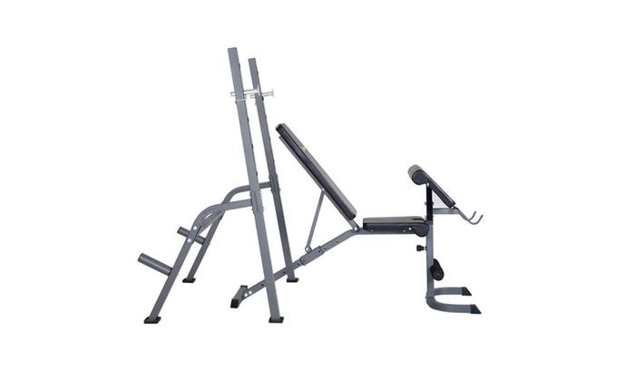 Astonishing Adjustable Weight Lift Bench Rack Set Fitness Barbell Inzonedesignstudio Interior Chair Design Inzonedesignstudiocom