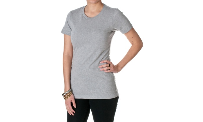 NLA Fitted Cotton-Poly Blend Crew Neck CVC Tee, 6610-1