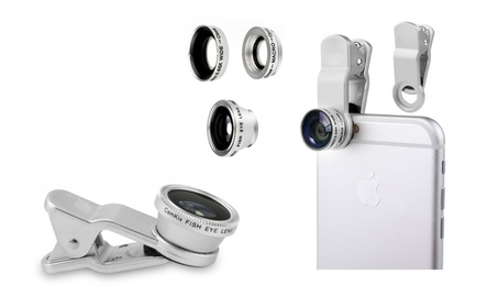 3 in 1 Universal Clip Fish Eye Lens from High Quality Glass 32917d49-bebc-4358-bb8c-b8c98257adc2