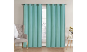 Neil Blackout Window Curtain Panel with Grommets
