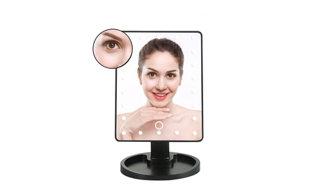 22 LED Lights Vanity Makeup Mirror Touch Screen Lighted Rotatable