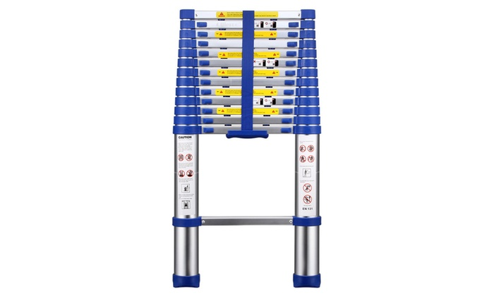 13.5FT Aluminum Multi Purpose Ladder Telescoping Extension Folding