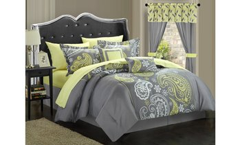 Bolivia 20-Piece Paisley Print Reversible Complete Bed In A Bag Comforter Set