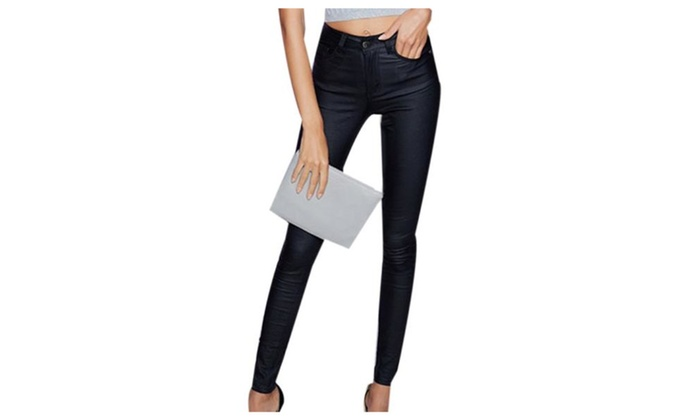 Women's Simple Casual Slim Fit Solid Pull On Style Pants