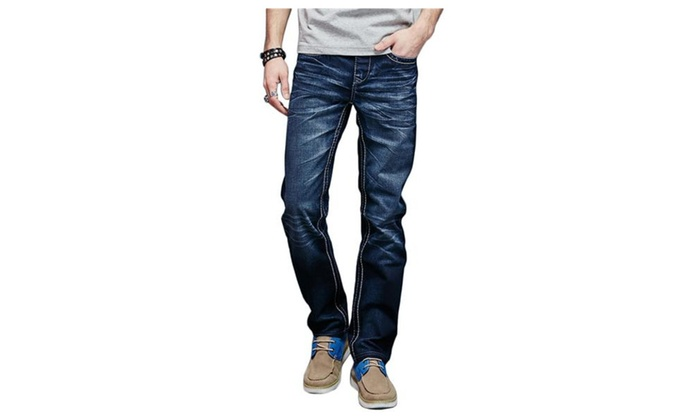 Men's Elastic Waist Casual Harem Jogger Short Washed Denim Jeans
