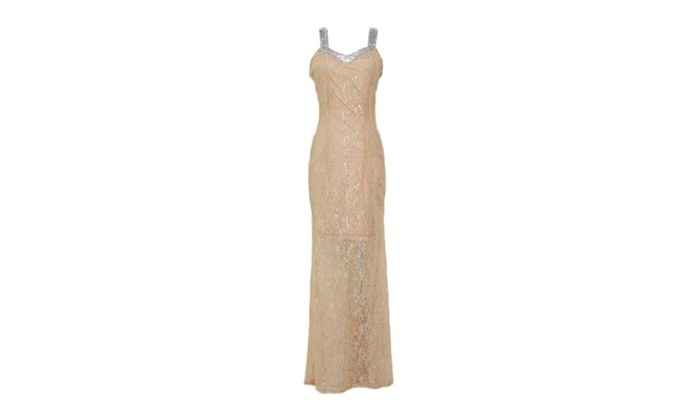 Women's Floor Length Sleeveless Sweetheart Neck Evening Gown
