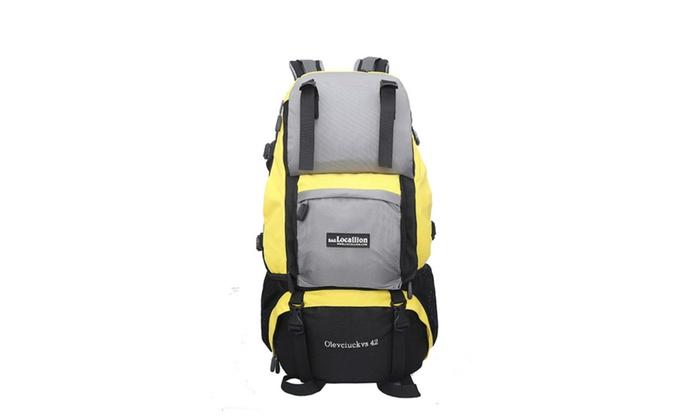 Outdoor Internal Frame Hiking Backpack   Groupon