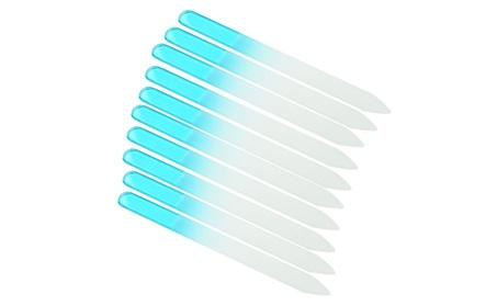 10 PCS Crystal Glass Nail File 5.5 inch Nail Care Salon+Case 59f98242-fe2e-4413-bed9-cb27ec84f703