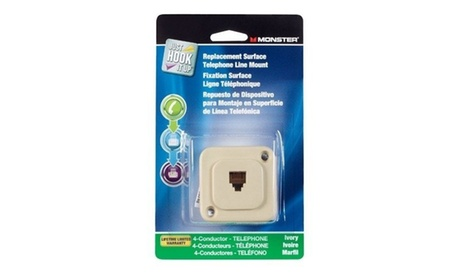 Monster Jhiu 140547-00 Replacement Surface Mount Telephone Line Jack- pack of 8