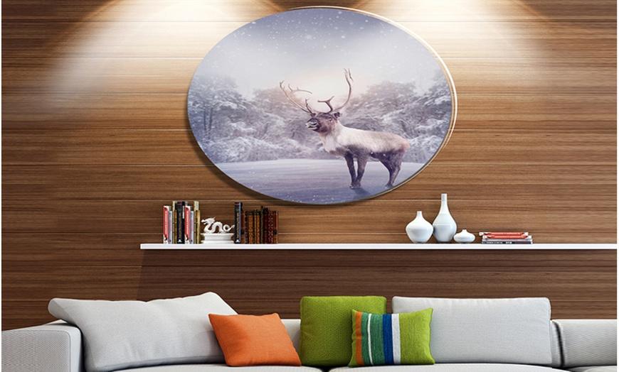 Up To 7 Off On Huge Reindeer Standing In Sno Groupon Goods
