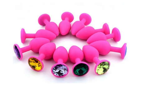 Pink Silicone Butt plug (Random Color Gem) a82c335a-ba2c-4d07-b818-f1bffce01b11