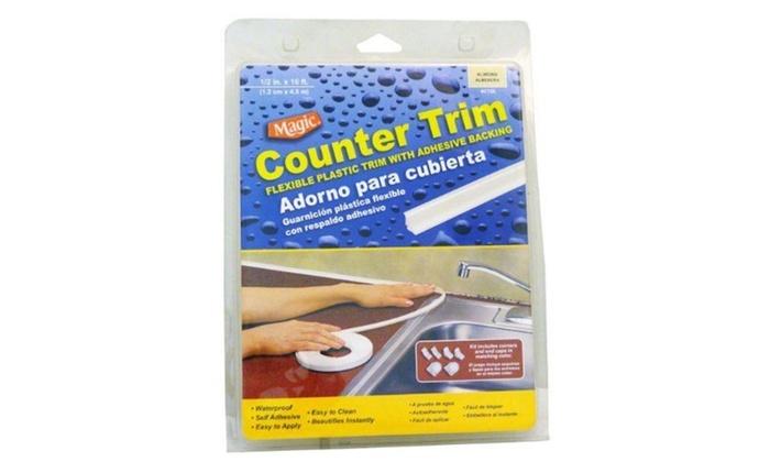 Magic Counter Trim Strip, Almond, 1/2 Inch x 16 Ft  (1 2 cm x 4 9 m)