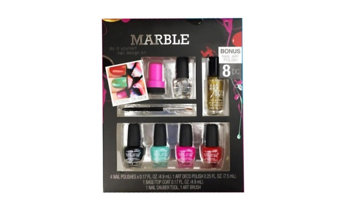8 Pcs Nail Art Polish Set Nail Design Kit Groupon