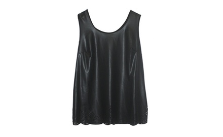 PLUS SIZE LX Cutout Muscle Tank