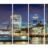 Thames River at Night - Cityscape Photography Metal Wall Art