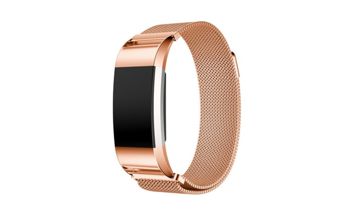 Stainless Steel Magnetic Replacement Band For Fitbit Charge 2 | Groupon