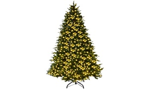 7Ft Pre-Lit Artificial Christmas Tree Hinged w/ 460 LED Lights