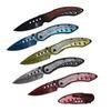 """Buckshot 8"""" Spring Assisted Color Damascus Etched Pocket Knife"""