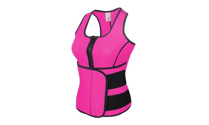 cc7566c67e9 DV Neoprene Sauna Suit Tank Top Vest with Adjustable Velcro Belt ...