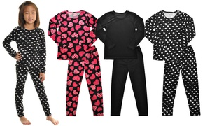 Girls Velvet Assorted-Pattern Top and Bottom Set (3-Sets)